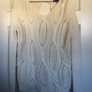 Sweaters - Cream Colored Knit Sweater